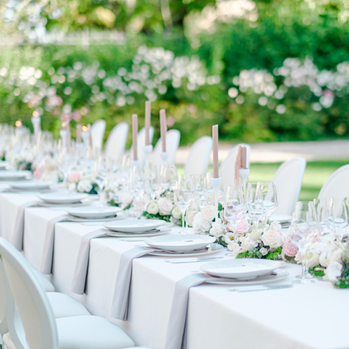Art de la table au Chateau Gassies - lieux de prédilection de Sabeha Brunet, Wedding Planner pour mariage et évènements haut de gamme - Arcachon, Bordeaux, Saint-Emilion