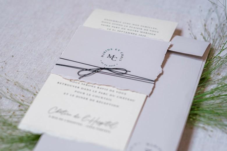 Carterie sur mesure créée un mariage de Sabeha Brunet, Wedding Planner pour mariage et évènements haut de gamme - Arcachon, Bordeaux, Saint-Emilion