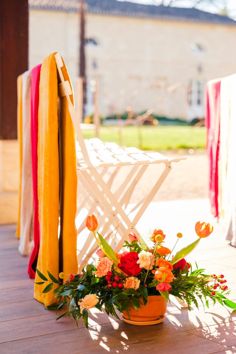 Mariage aux couleurs chaudes en hiver organisé part Sabeha Brunet, wedding planner