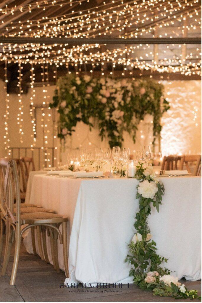 Création : Sabeha Brunet, Wedding planner, Sabeha Brunet, à Bordeaux pour mariage luxe et haut de gamme